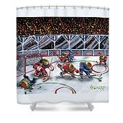 We Olive Hockey Shower Curtain