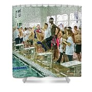We Swim Shower Curtain