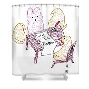 We The Peeps Shower Curtain