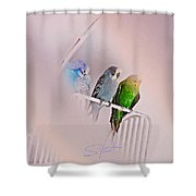 We Three Birds Shower Curtain