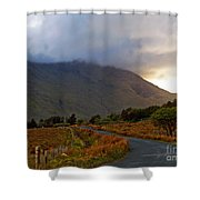 We Took The Road Less Traveled Shower Curtain