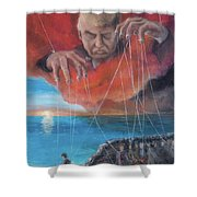 We Traded Our Hearts For Stones Shower Curtain by Break The Silhouette