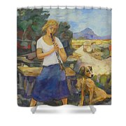 We Two Or Petite Fleur Shower Curtain