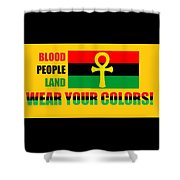 Wear Red Black And Green Shower Curtain
