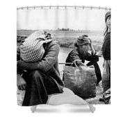 Weary Vietnamese Refugees Shower Curtain