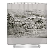 Weather Over Agua Caliente Shower Curtain