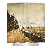 Weather Roads Shower Curtain