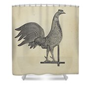 Weather Vane Finial Shower Curtain