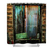 Weatherd Entry Shower Curtain by Perry Webster