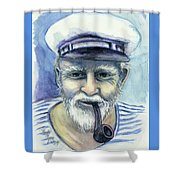 Weathered - He And His Memories... Shower Curtain