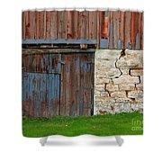 Weathered Barn Door Shower Curtain