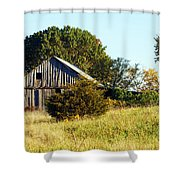 Weathered Barn In Fall Shower Curtain