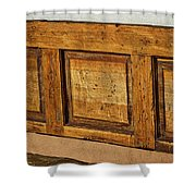 Weathered Bench - Santa Fe #2 Shower Curtain