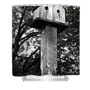 Weathered Bird House Shower Curtain