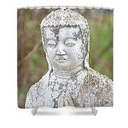 Weathered Buddha Statue Shower Curtain
