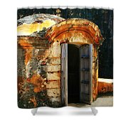 Weathered Entry Shower Curtain