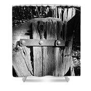 Weathered Fence In Black And White Shower Curtain