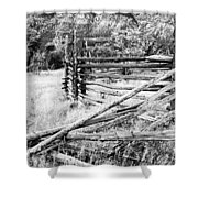 Weathered Fence Shower Curtain by Larry Ricker