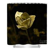Weathered Golden Tulip Shower Curtain