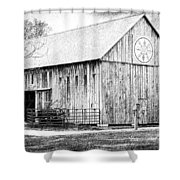Weathered Gray - Bw Shower Curtain