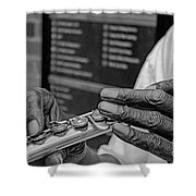 Weathered Hands Shower Curtain