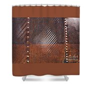 Weathered Metal Rivets Shower Curtain