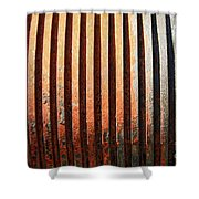 Weathered Metal With Rows Shower Curtain