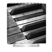 Weathered Music Shower Curtain
