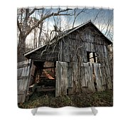 Weathered Old Abandoned Barn Shower Curtain