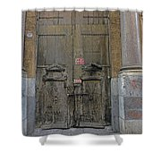 Weathered Old Door On A Building In Palermo Sicily Shower Curtain