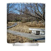 Weathered Path Through Dunes Shower Curtain