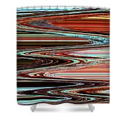 Weathered Roots Abstract Shower Curtain