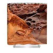 Weathered Sandstone Shower Curtain by Leland D Howard