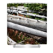 Weathered Trees Fallen Down Within Yellowstone National Park Shower Curtain