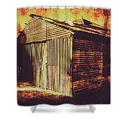 Weathered Vintage Rural Shed Shower Curtain