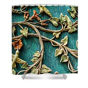 Weathered Wall Art Shower Curtain