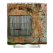 Weathered Wall  Shower Curtain