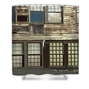 Weathered Windows Shower Curtain