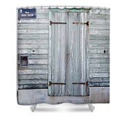 Weathered Wooden Door In France Shower Curtain