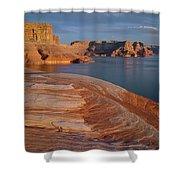 Weathering Pit Ridge Sunset Shower Curtain