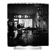 Weatherstone Coffee House  Shower Curtain