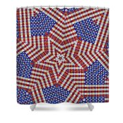 Weave A Star And Rainbow Shower Curtain