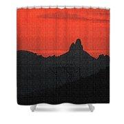 Weaver Needle Sunset Shower Curtain