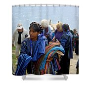 Weaving Vendor Shower Curtain