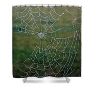 Web After The Storm Shower Curtain