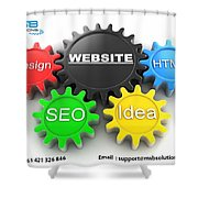 Web Design And Development Company In Adelaide  Shower Curtain