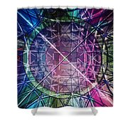 Web Matrix Shower Curtain