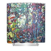 Web Of Color Shower Curtain