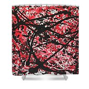 Web Of Fire Shower Curtain