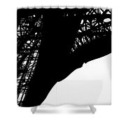 Web Of Steel Shower Curtain